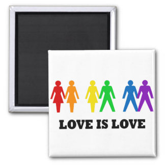 Love is Love Square Magnet