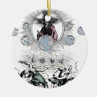Love Makes The World Go Around by TEO Round Ceramic Decoration