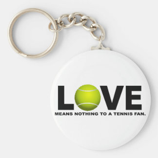 Love Means Nothing to a Tennis Fan Basic Round Button Key Ring
