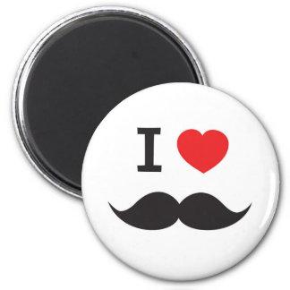 Love Moustache 6 Cm Round Magnet