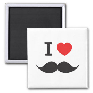 Love Moustache magnet