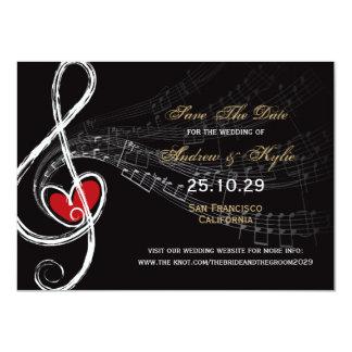 Love & Music Artist Photo Save The Date Announceme 11 Cm X 16 Cm Invitation Card