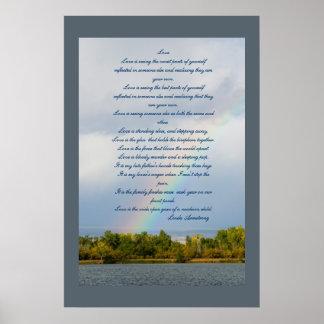 Love Poem With Rainbow Photo Poster