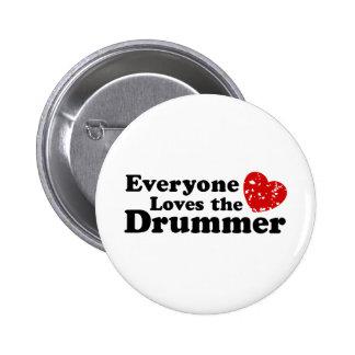 Love The Drummer 6 Cm Round Badge