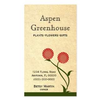 Lovely Blooms Business Card, Red Pack Of Standard Business Cards