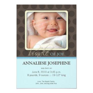 Lovely Bundle of Joy Birth Announcement :: blue