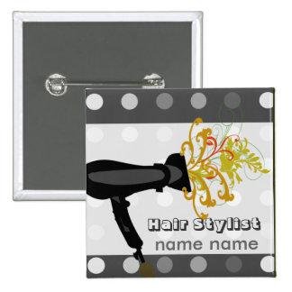 Lovely Hair Stylist Beauty Hair Spa Salons 15 Cm Square Badge