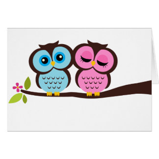 Lovely Owls Greeting Card