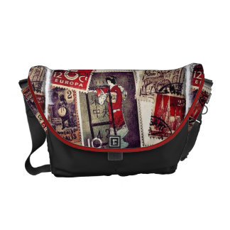 Lovely Stamps Closeup Messenger Bag