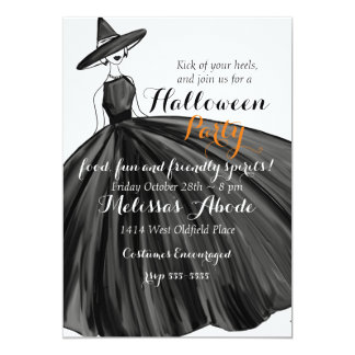 Lovely Witch Halloween Invitation