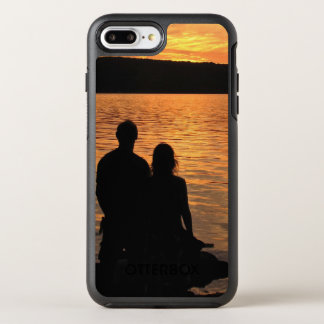 Lovers at Sunset Lake OtterBox Symmetry iPhone 7 Plus Case