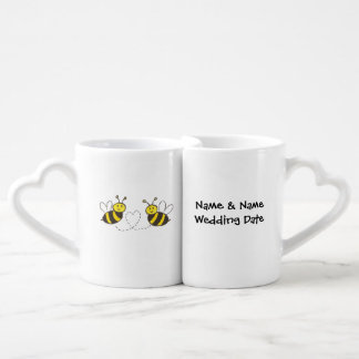 Lovers' Mug Set Customized Name & Wedding Date Lovers Mug Sets