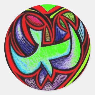 Love's Full Heart - Customized Round Sticker