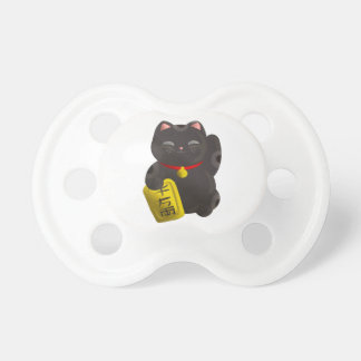 Lucky Cat Black Pacifiers