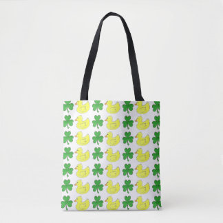 Lucky Duck Ducks Shamrock Clover St. Patrick's Bag Tote Bag
