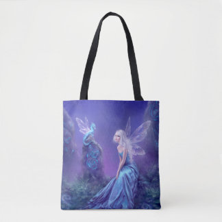 Luminescent Fairy & Dragon All Over Print Tote Bag