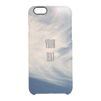 Luminous Sun and Wispy Clouds Personalize Clear iPhone 6/6S Case