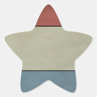 Luxembourg Flag (grunged) Star Sticker