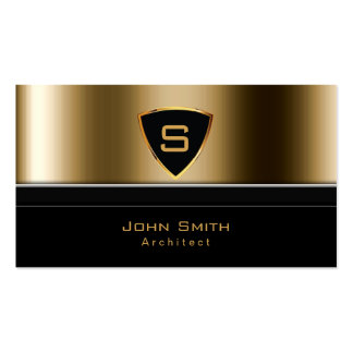 Luxury Gold Monogram Architect Business Card