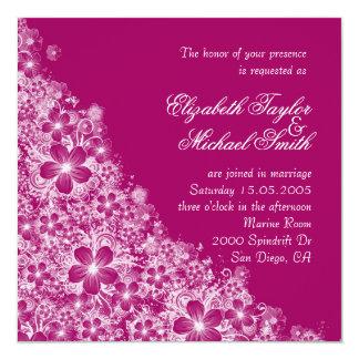 Luxury Plum Floral Spring Blanket Wedding Invite