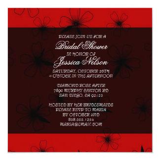 Luxury Red Floral Blanket Damask Bridal Invite