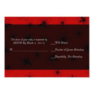 Luxury Red Floral Blanket Damask RSVP card 13 Cm X 18 Cm Invitation Card