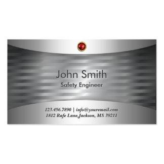 Luxury Steel Safety Engineer Business Card
