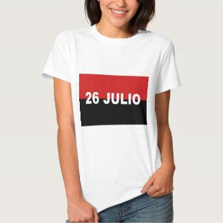 M-26-7 Flag -  Bandera del Movimiento 26 de Julio. T Shirt