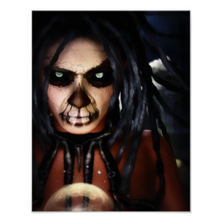 Macabre Voodoo Canvas/Poster Print