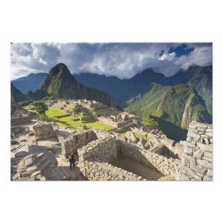 Machu Picchu, ancient ruins, UNESCO world 3 Photo Print