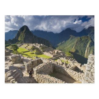 Machu Picchu, ancient ruins, UNESCO world 3 Postcard