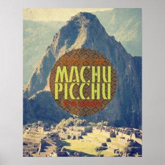 Machu Picchu Peru Travel Poster