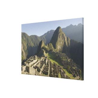 Machu Picchu, ruins of Inca city, Peru. Canvas Prints