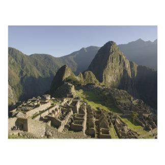 Machu Picchu, ruins of Inca city, Peru. Postcard