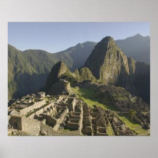 Machu Picchu, ruins of Inca city, Peru. Poster