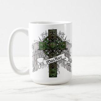MacKay Tartan Cross Basic White Mug