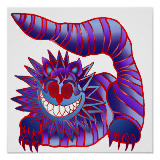Mad Cheshire Cat Fire Poster