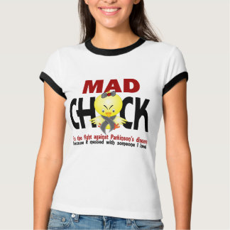 Mad Chick In The Fight Parkinson's Disease Tees