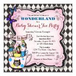 Mad Hatter Tea Party Wonderland Baby Shower 13 Cm X 13 Cm Square Invitation Card