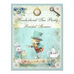 Mad Hatter Wonderland Tea Party Bridal Shower 11 Cm X 14 Cm Invitation Card