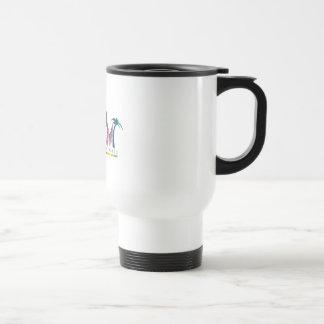 Made in Miami Music White Travel Mug