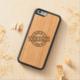 Made In North Dakota Stamp Style Logo Symbol Black Cherry iPhone 6 Bumper