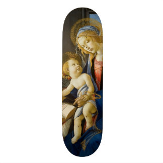 Madonna of the Book by Botticelli Custom Skate Board