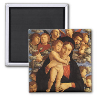Madonna of the Cherubim by Andrea Mantegna Square Magnet