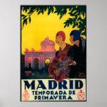 Madrid in Springtime Travel Promotional Poster