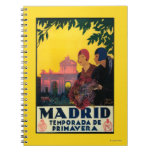 Madrid in Springtime Travel Promotional Poster Note Books
