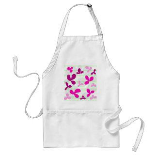 Magenta floral pattern standard apron