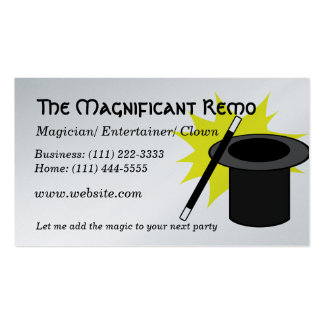 Magic Me/ Magician Pack Of Standard Business Cards