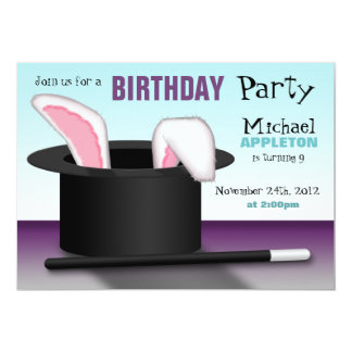 Magician's Hat - Kids Birthday Party Invitations