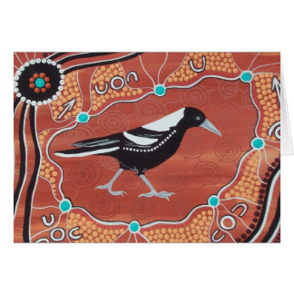 MAGPIE DREAMING GREETING CARD